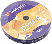 DVD-R Disc Verbatim   4.7Gb  16x <уп. 10  шт> <43729>