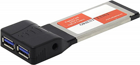 Orient <EX3U2> Adapter Express Card/34mm-->USB3.0 2 port + Б.П.